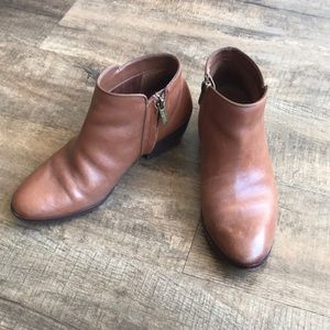 Sam Edelman Ankle Boots-Brown Leather
